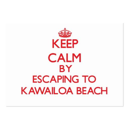 Keep calm by escaping to Kawailoa Beach Hawaii Business Cards