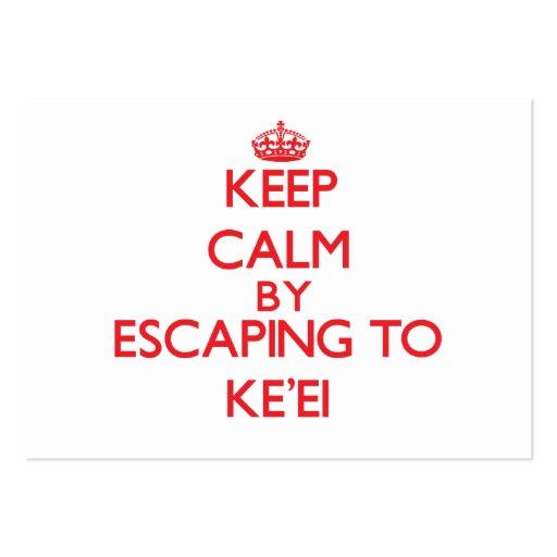 Keep calm by escaping to Ke'Ei Hawaii Business Card Template