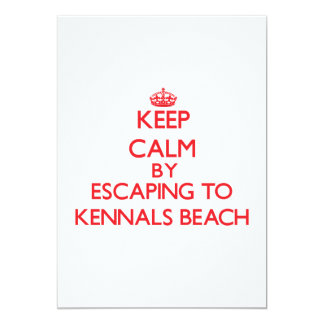 Keep calm by escaping to Kennals Beach North Carol Personalized Invite