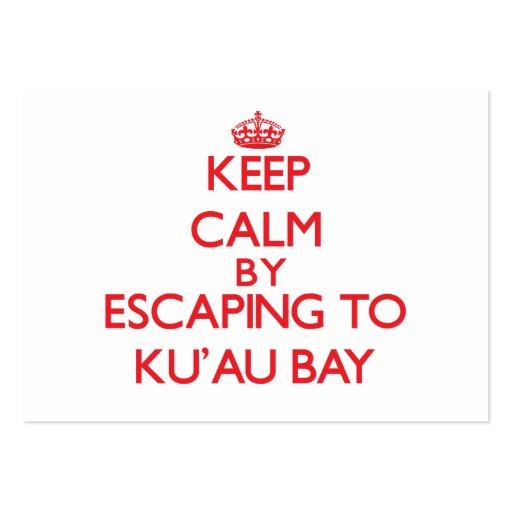 Keep calm by escaping to Ku'Au Bay Hawaii Business Cards