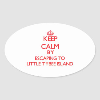 Keep calm by escaping to Little Tybee Island Georg Sticker
