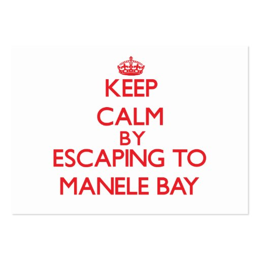 Keep calm by escaping to Manele Bay Hawaii Business Card Template