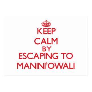 Keep calm by escaping to Manini'Owali Hawaii Business Card Template