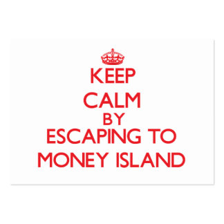 Keep calm by escaping to Money Island New Jersey Business Cards