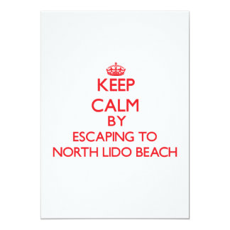 Keep calm by escaping to North Lido Beach Florida Invitation