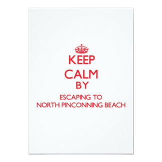 Keep calm by escaping to North Pinconning Beach Mi Personalized Invites