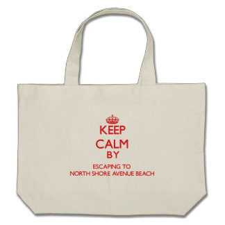 Keep calm by escaping to North Shore Avenue Beach Canvas Bag