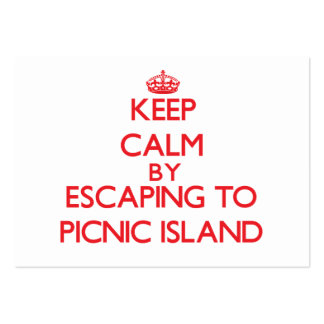 Keep calm by escaping to Picnic Island Florida Business Card