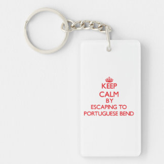 Keep calm by escaping to Portuguese Bend Californi Single-Sided Rectangular Acrylic Key Ring
