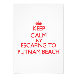 Keep calm by escaping to Putnam Beach New York Custom Announcements