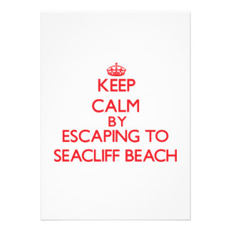 Keep calm by escaping to Seacliff Beach New York Personalized Invitations