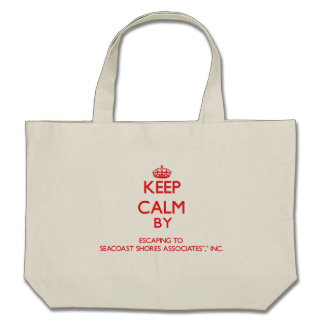 Keep calm by escaping to Seacoast Shores Associate Tote Bag