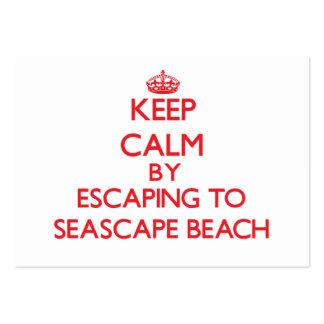Keep calm by escaping to Seascape Beach California Business Card