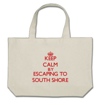 Keep calm by escaping to South Shore Illinois Canvas Bag