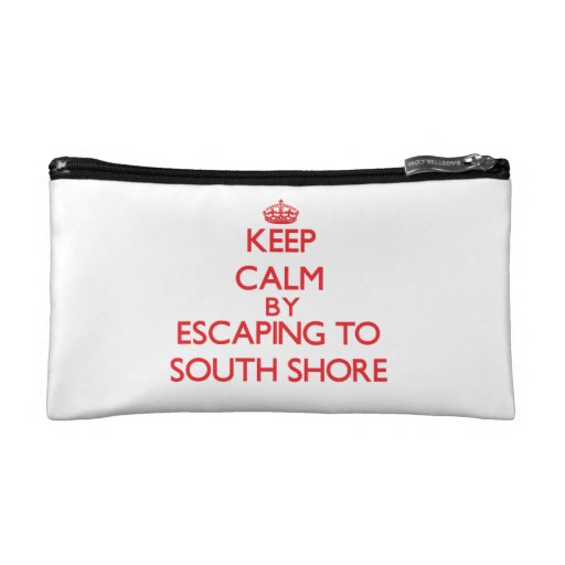 Keep calm by escaping to South Shore Illinois Cosmetics Bags