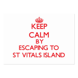 Keep calm by escaping to St Vitals Island Michigan Business Card Templates