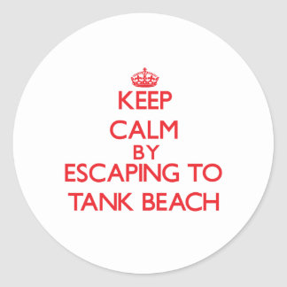 Keep calm by escaping to Tank Beach Northern Maria Sticker