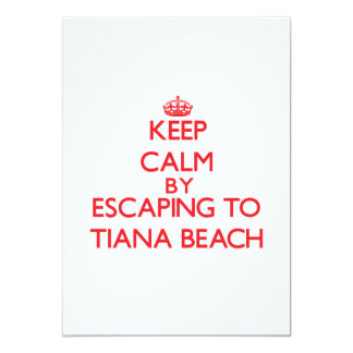 Keep calm by escaping to Tiana Beach New York Invites