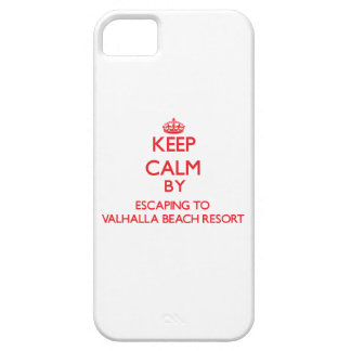 Keep calm by escaping to Valhalla Beach Resort Flo iPhone 5 Case