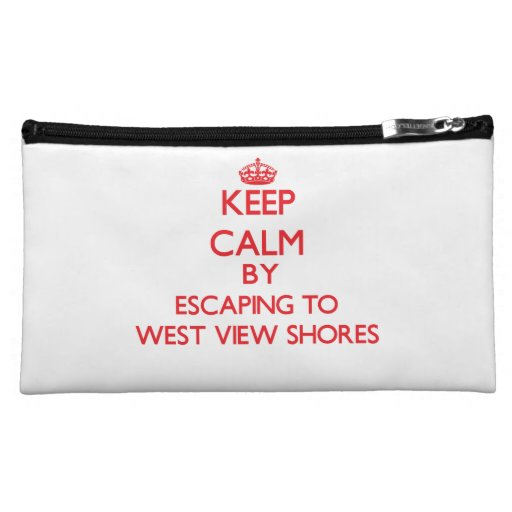 Keep calm by escaping to West View Shores Maryland Cosmetics Bags