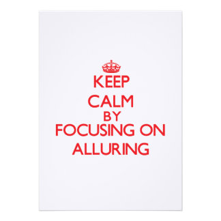 Keep Calm by focusing on Alluring Custom Announcements