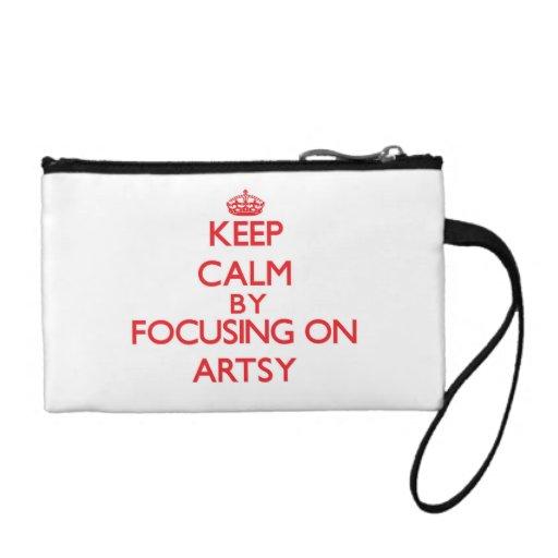 Keep Calm by focusing on Artsy Coin Purses