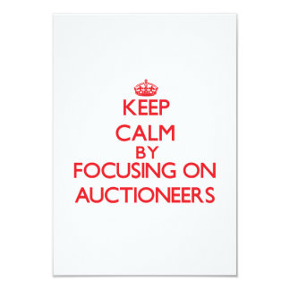 Keep Calm by focusing on Auctioneers Personalized Invite
