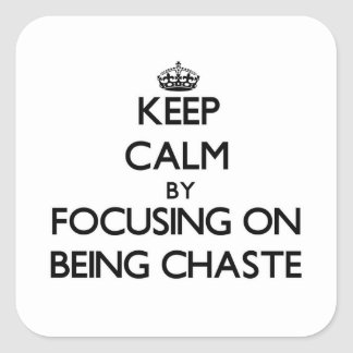 Keep Calm by focusing on Being Chaste Stickers