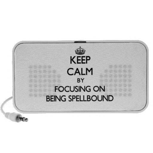 Keep Calm by focusing on Being Spellbound Portable Speaker