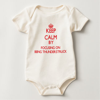 Keep Calm by focusing on Being Thunderstruck Romper