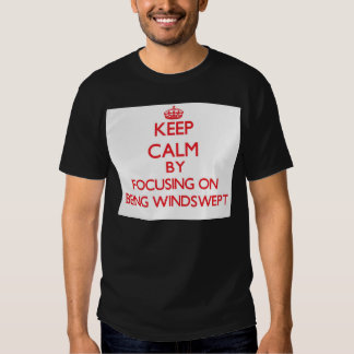 Keep Calm by focusing on Being Windswept Tee Shirt