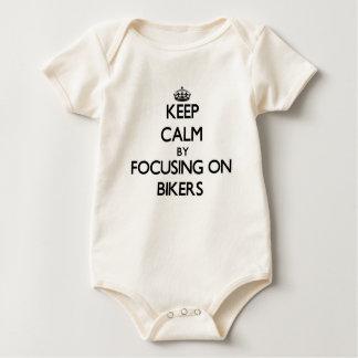 Keep Calm by focusing on Bikers Baby Bodysuit