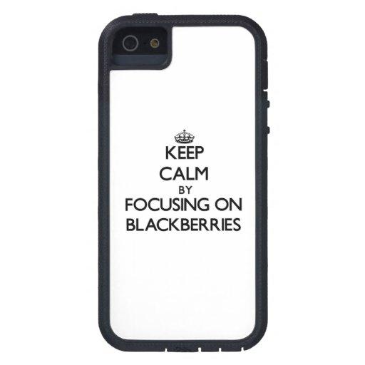 Keep Calm by focusing on Blackberries iPhone 5/5S Case