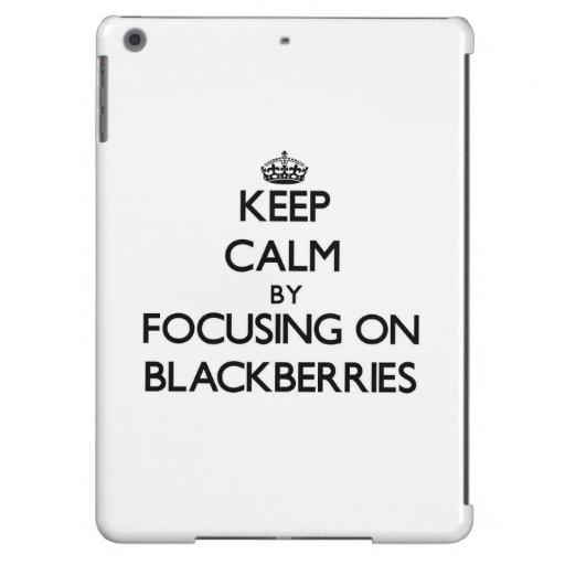 Keep Calm by focusing on Blackberries iPad Air Cover