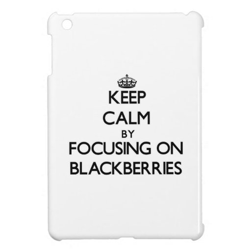 Keep Calm by focusing on Blackberries Case For The iPad Mini