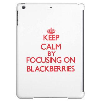 Keep Calm by focusing on Blackberries iPad Air Cases