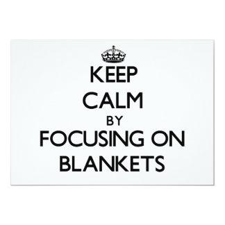 Keep Calm by focusing on Blankets Custom Invitations