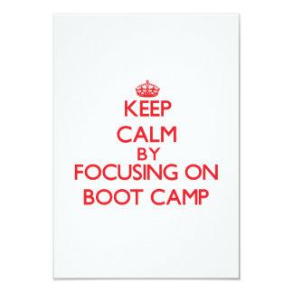 Keep Calm by focusing on Boot Camp 9 Cm X 13 Cm Invitation Card