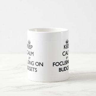 Keep Calm by focusing on Budgets Mugs
