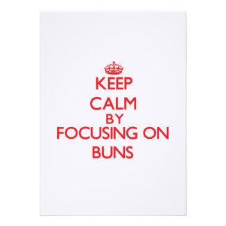 Keep Calm by focusing on Buns Invitation