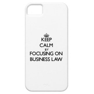 Keep calm by focusing on Business Law iPhone 5/5S Cover