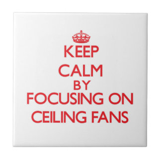 Keep Calm by focusing on Ceiling Fans Tiles