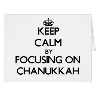 Keep Calm by focusing on Chanukkah Card