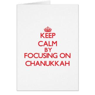 Keep Calm by focusing on Chanukkah Cards
