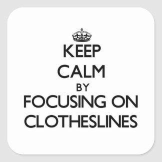 Keep Calm by focusing on Clotheslines Stickers