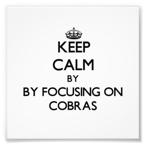 Keep calm by focusing on Cobras Photo Art