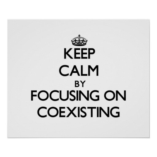 Keep Calm by focusing on Coexisting Poster