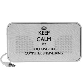 Keep calm by focusing on Computer Engineering Mini Speakers