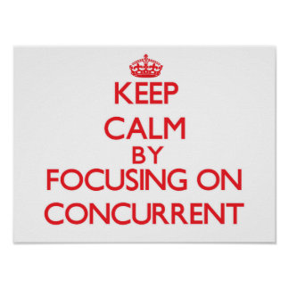 Keep Calm by focusing on Concurrent Posters