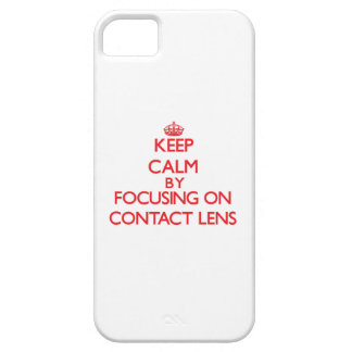Keep Calm by focusing on Contact Lens Cover For iPhone 5/5S